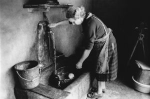 Washing the butter lump